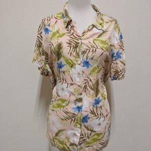 3for$20 floral button down xl